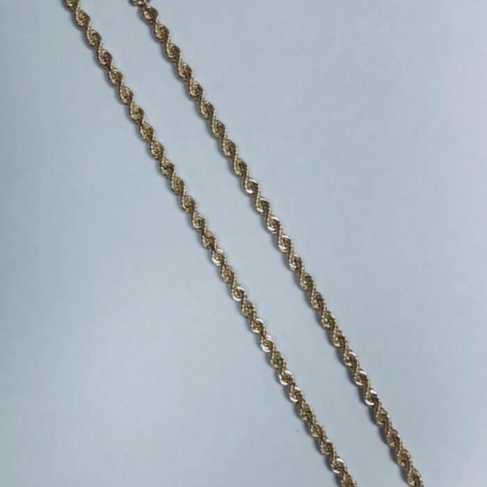 CADENA TORSAL ORO 14K  52.5 GRS.  60 CM.   ENTREGA AL DIA SIGUIENTE.